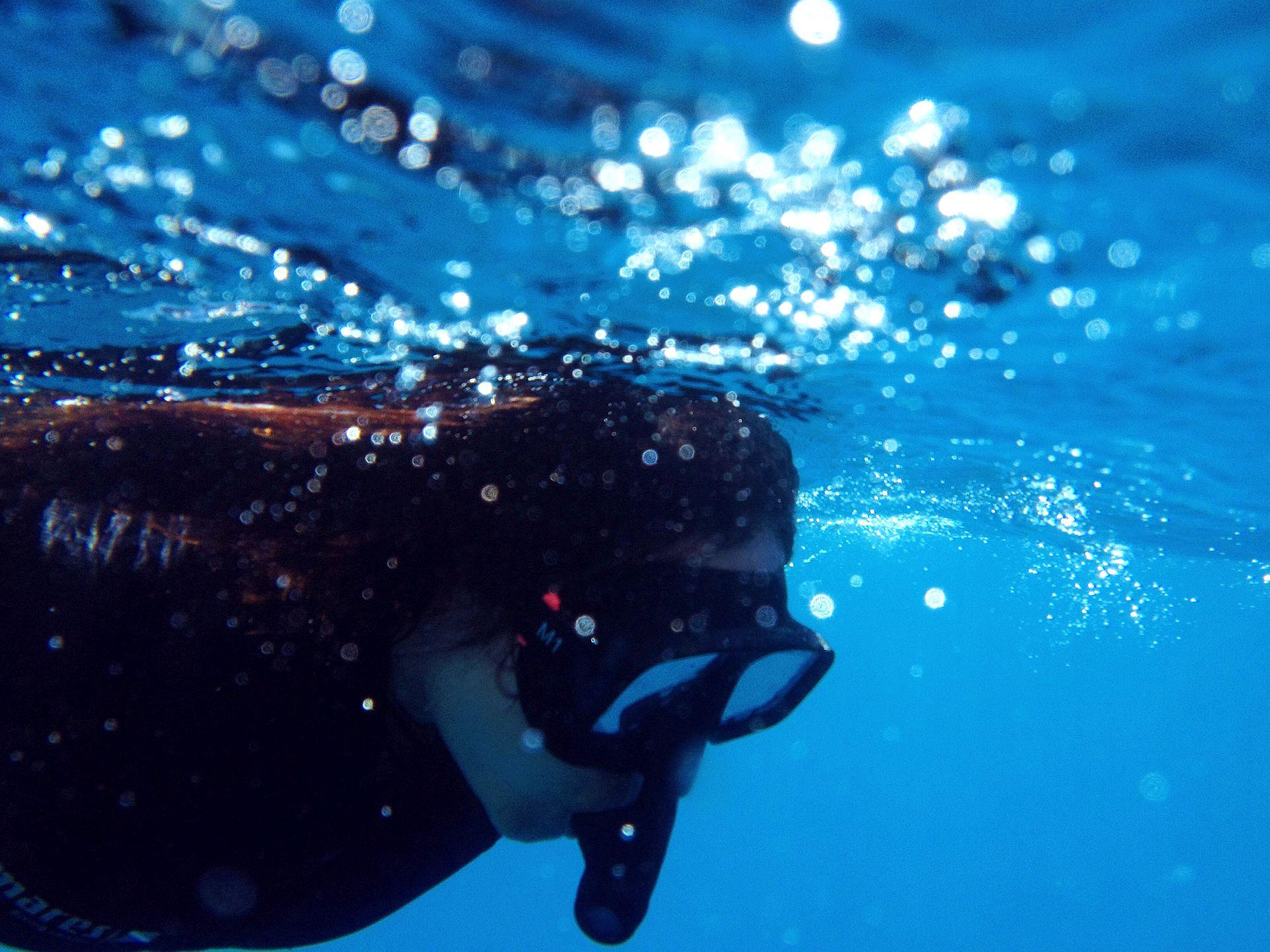 Snorkeling in Santorini
