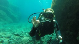 Santorini scuba diving advanced open water padi certification