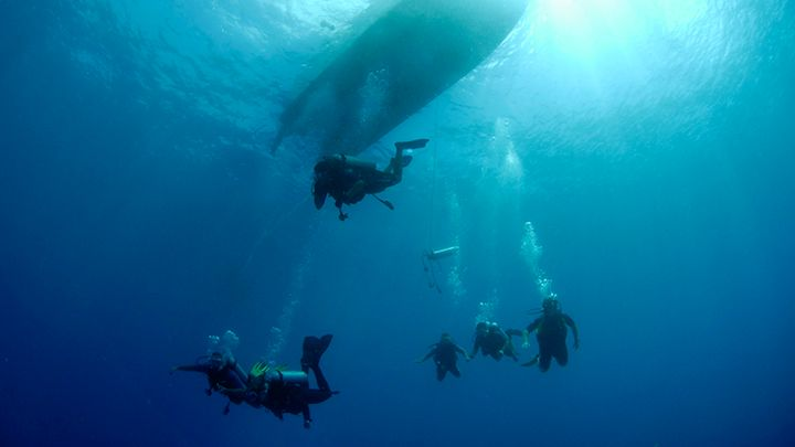 advanced open water padi certification Santorini
