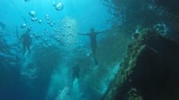 snorkel diving in Santorini Greece