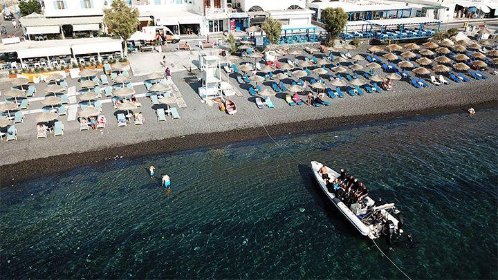 Kamari beach santorini boat tours